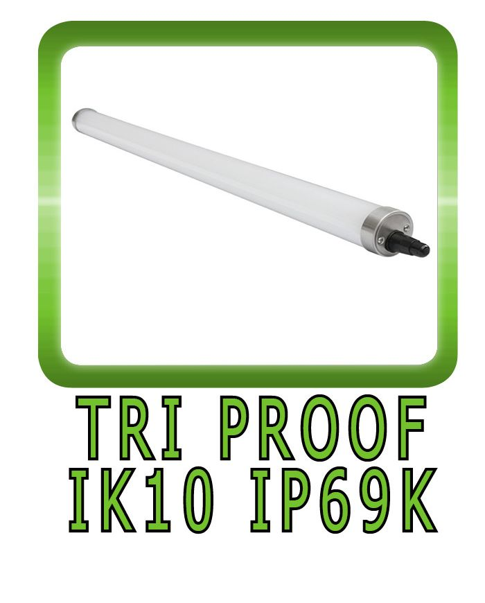 TRI-PROOF LED LUMINAIRE IK10 IP69K