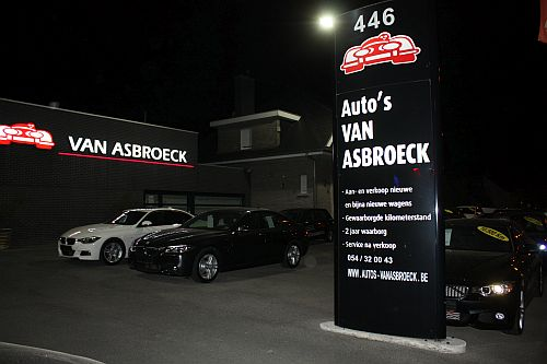 Van Asbroeck parking with 200W and 300W Maha